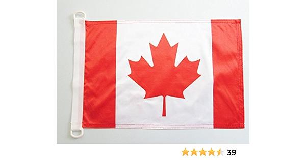 AZ FLAG Bandera Nautica de CANADÁ 45x30cm - Pabellón de conveniencia Canadiense 30 x 45 cm Anillos: Amazon.es: Hogar