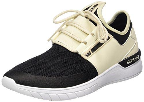 Supra Flow Run - Zapatillas de casa Hombre Weiß (Cream/Black-White)