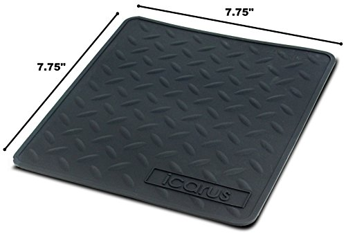 (Icarus Silicone Heat Resistant Proof Tray Mat 7.75