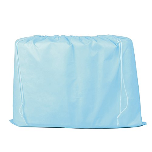 2 Piece Non-woven Breathable Dust-proof Drawstring Storage Pouch 19.7 Inch X 15.7 Inch (Blue)