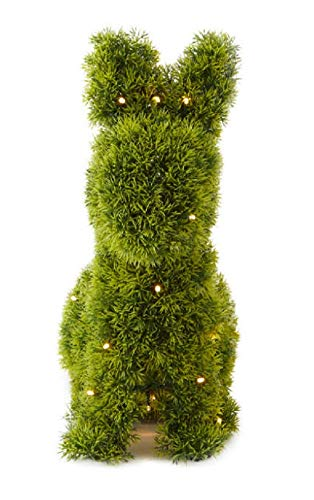 AT-Designs-Bunny-Rabbit-Shaped-Animal-Artificial-Topiary-Plant-with-Battery-Operated-LED-Lights-and-Timer-Indoor-Outdoor-Use-Decoration