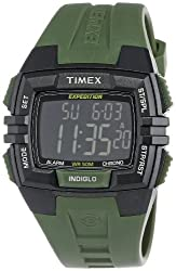 Timex Men's T499019J Expedition Full Size Chrono Alarm Timer Black Case Watch