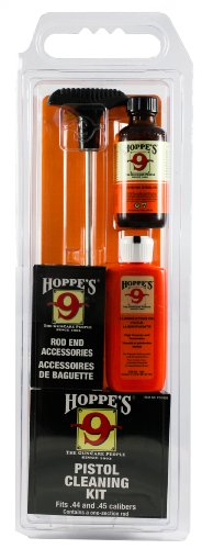Hoppe's Cleaning Kit for .44, .45 Caliber Pistol, with Aluminum Rod, Clam from Hoppe's