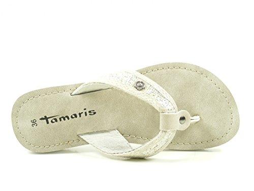 Tamaris 1-27117-38 Tongs femme Silber VFDCFMsIc