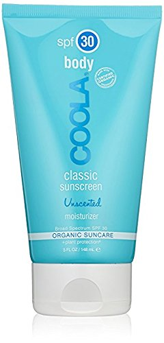 COOLA Organic Suncare, Unscented Classic Body Sunscreen  Moisturizer, SPF 30 , 5 Ounce