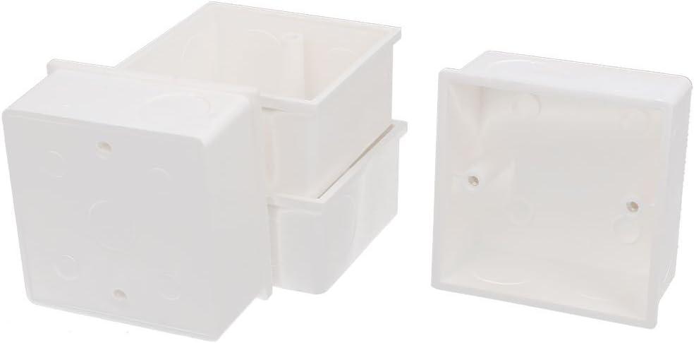 4 Piezas 86mmx86mmx43mm PVC blanco Soporte Caja Empotrar para Enchufe De Pared: Amazon.es: Bricolaje y herramientas