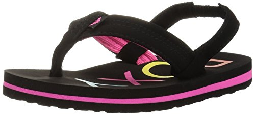 Roxy Girls' TW Vista 3 Point Sandal Flip-Flop, Black, 9 M US Toddler -