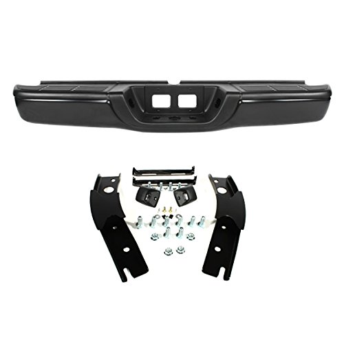 Step Bumper Brackets (CarPartsDepot 00-06 TY TUNDRA - REAR STEP BUMPER W/BRACKET- BLACK)