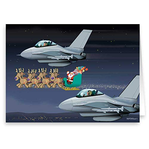 Air Force Christmas Card - Boxed Military 18 Cards & 19 - Military Cards Boxed