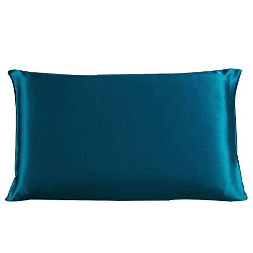 Sale!! uxcell 100% Pure Mulberry Charmeuse Silk Pillowcase Pillow Case Cover for Hair & Skin 19 Momm...