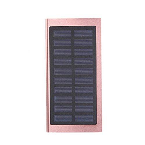 hunpta 10000mAh portátil Solar Power Bank Doble USB rápido de batería DIY caja funda para teléfono móvil oro rosa