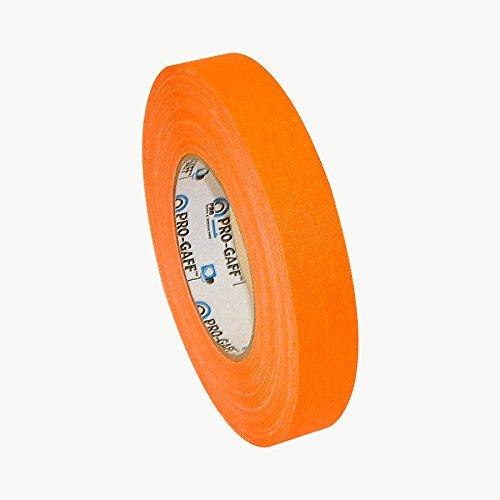 Pro Tapes Pro-Gaff-Neon Premium Fluorescent Gaffers Tape: 1 in. x 50 yds. (Fluorescent Orange)