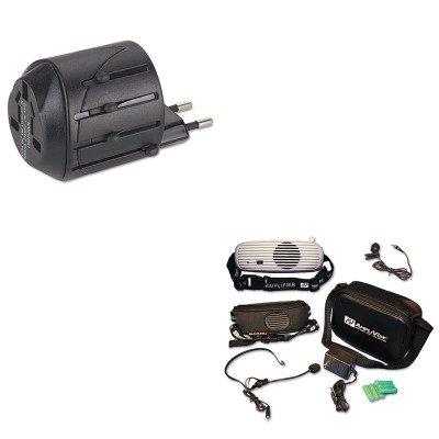 KITAPLS207KMW33117 - Value Kit - Amplivox BeltBlaster PRO Personal Waistband Amplifier (APLS207) and Kensington International Travel Plug Adapter/AC Outlet for Notebook PC - Amplivox Personal Amplifier