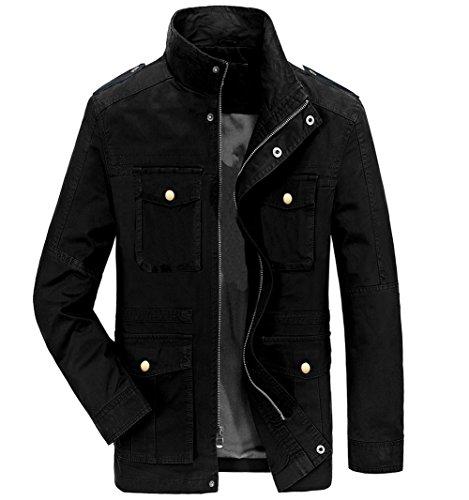 Black Casual Mens Jacket - 9