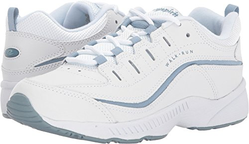 Easy Spirit Women's Roadrun White/Light Blue 7.5 M US (Instep Spirit Easy)