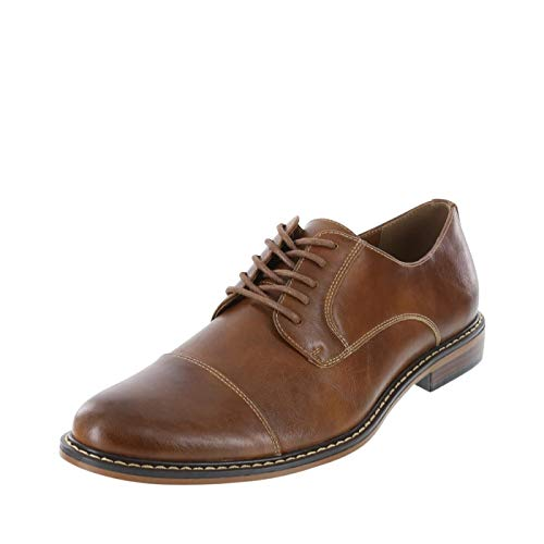 Dexter Dark Cognac Smooth Men's ALEC Cap Toe Oxfords 10 Regular