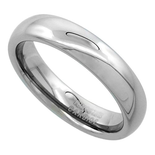 Tungsten Carbide Plain Wedding Polished