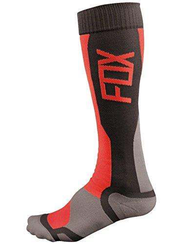 Fox Racing MX Tech Men's MotoX/Off-Road/Dirt Bike Motorcycle Socks - Grey/Red / Small/Medium