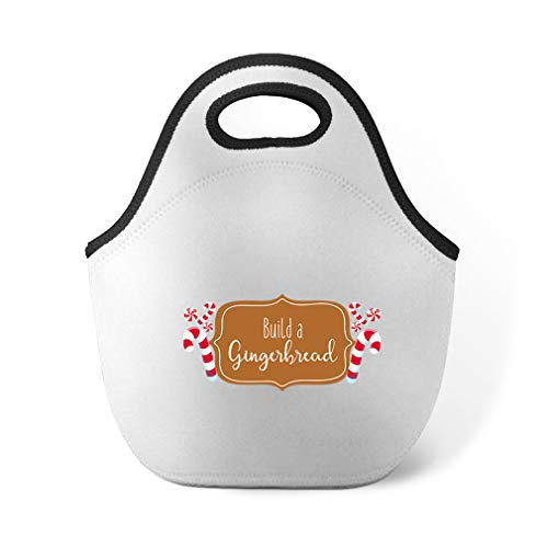 Build Gingerbread Sign Neoprene Lunch Bag Insulated Food ()