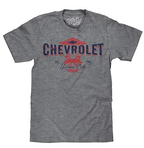 Tee Luv Chevrolet EST. 1911 T-Shirt - Chevy Genuine Parts Graphic Shirt (XXX-Large)