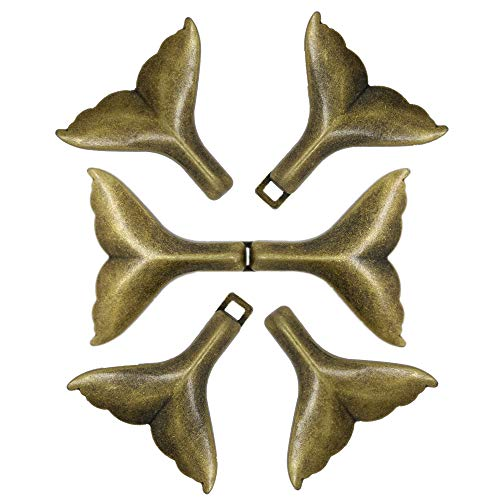 Bezelry 3 Pairs Whale Tail Cape or Cloak Clasp Fasteners. 62mm x 35mm Fastened. Sew On Hooks and Eyes Cardigan Clip (Antique Brass)