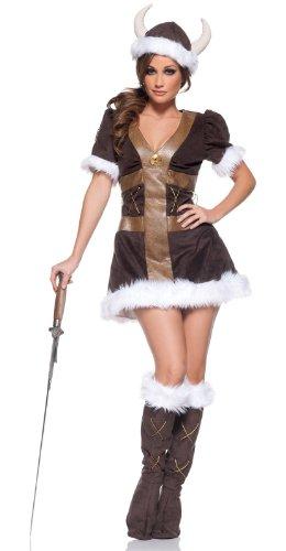 Women's Viking Princess Costume, Brown, Medium (Viking Princess)