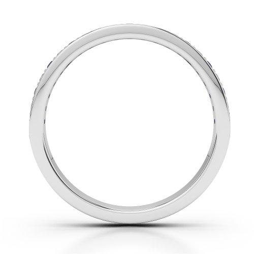 G-H/VS 0,20CT Coupe ronde Certifié tanzanite et diamants en platine 950Agdr-1082