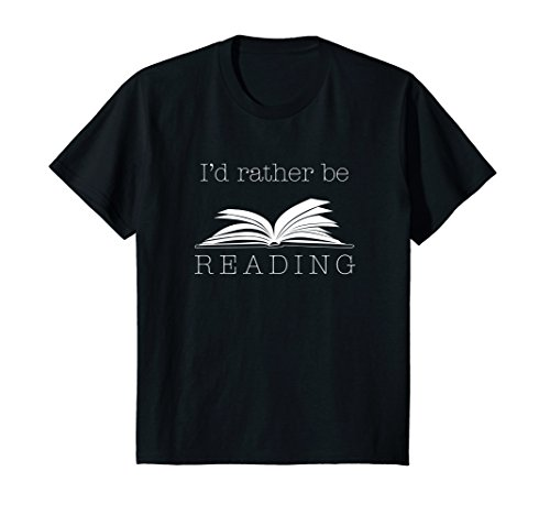Kids I'd Rather Be Reading T Shirt, Funny Cute Bookworm Gift 10 - D&g Kids