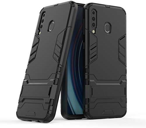 あなたの携帯電話を保護する 耐震性PC + TPUケースギャラクシーM30用、ホルダー付き (Color: : ブラック)