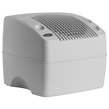 AIRCARE E35 000 2-Speed Tabletop Evaporative Humidifier, White Essick Air