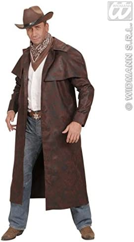 34-36 Chest Delights Mens Western Sheriff Brown Cowboy Duster Coat Small