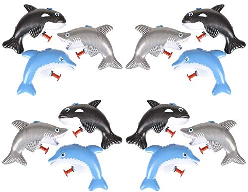 - HAPPY DEALS ~ 24 Under The Sea Water Guns - ( Sharks, Dolphins and Whales Squirt Guns )