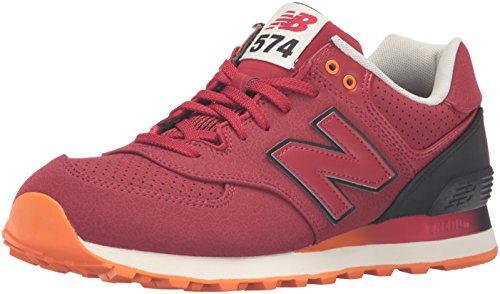 New Balance Men's ML574 Gradient Pack Fashion Sneaker, Red/Black, 12 D US