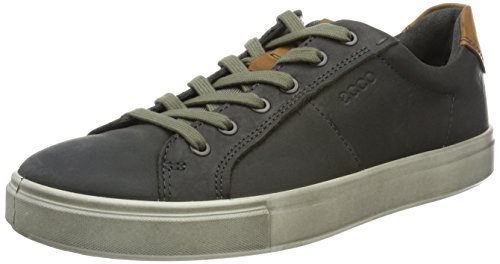 ECCO Men's Kyle Street Tie Fashion Sneaker, Titanium with Wh