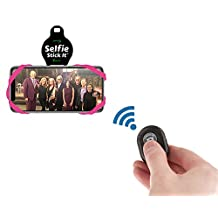 Selfie Stick-It - Convert Any Surface Into An Instant Photo Booth - Wireless Selfie Stick - Bluetooth Selfie Stick - Anti Gravity Phone Case - Stickable Phone Mount - As Seen On TV (Pink)