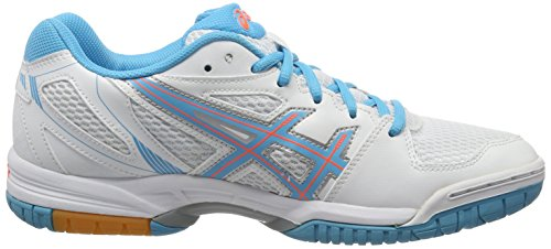 ASICS Gel de flamme Flare 5 – White/Blue Atoll/Coral, 11