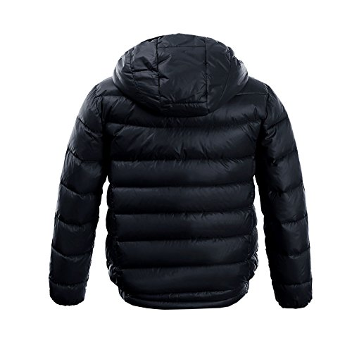 M2C Boys & Girls Ultralight Hooded Duck Down Puffer Packable Jacket 5T Black by M2C (Image #2)'