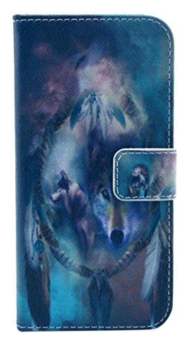 PowerQ [ para Samsung Galaxy S6Edge G925 - X-23 ] PU Funda Serie bolsa Modelo colorido con bonito hermoso patrón de impresión Impresión Dibujo monedero de la cartera de la cubierta móvil del bolso del X-14