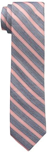 Calvin Klein Men's Slim Coral Classic Bar Stripe Tie