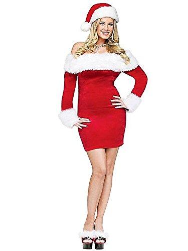 Santa Sweetie Costume - Medium/Large - Dress Size (Santas Sweetie Adult Costumes)