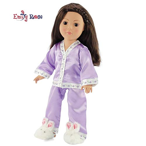 "18 Inch Doll American Girl Embroidered Pajama PJ Set Clothes for My Life as Dolls | Gift Boxed! | Fits 18"" American Girl Doll 