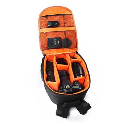Waterproof DSLR Case Camera Backpack Bag for Canon for Nikon for Sony, Orange
