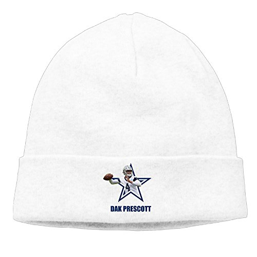 DETO Men's&Women's Dak Player Dallas Team Patch Beanie CampingWhite Cap Hat (Puma New Wave)