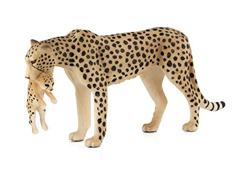 MOJO Cheetah Female with Cub  Toy Figure