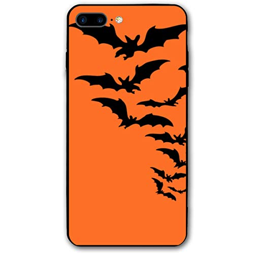 Halloween Bat Horror Film Orange Ghost iPhone 8 Plus Case, iPhone 7 Plus Case, Ultra Thin Lightweight Cover Shell, Anti Scratch Durable, Shock Absorb Bumper Environmental Protection Case Cover]()