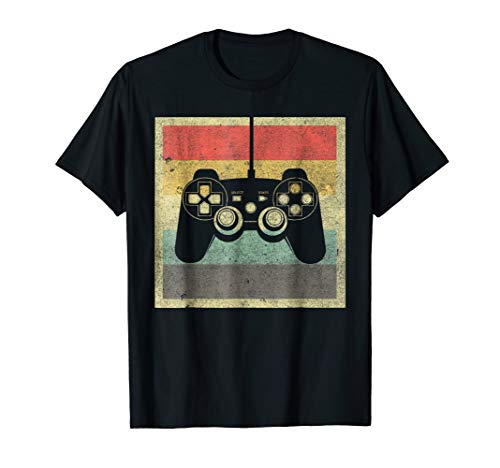 Vintage Gaming Shirt Gamer Costume Style 70s 80s ()