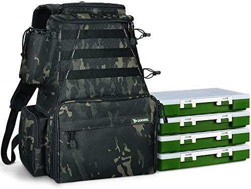 Rodeel Mochila de almacenamiento de pesca impermeable para aparejos de pesca al aire libre