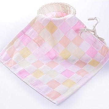 Bonytain - Paños de muselina cuadrados para bebé recién nacido, doble gasa, algodón, toallas pequeñas para bebé, baberos para la cara de la alimentación ...