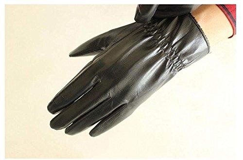 CWJ Men's Gloves Thick Drive Car Ride Warm,Black,One Size by CWJ (Image #5)