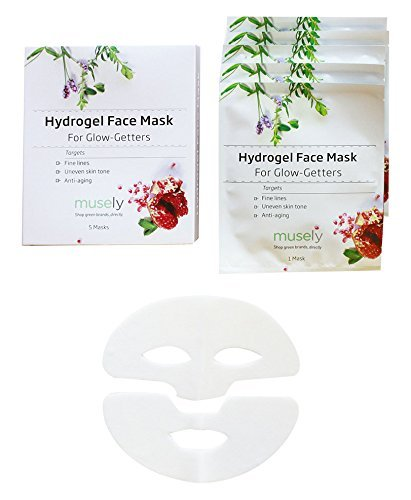 Musely Hydrogel Face Mask for Glow-Getters, Box of 5 by Musely